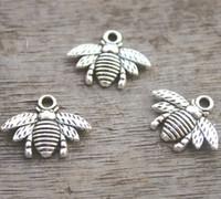 Wholesale Tibetan Bee - 30pcs--Bee charms,Antique Tibetan silver Lovely Bee Honeybee Charm Pendant 16x21mm