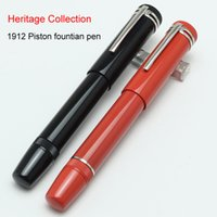 Wholesale Stainless Steel Fountain Pen Nib - luxury MB Heritage Collection 1912 Piston fountian pen With retractable nib movement and the piston filling mechanism pens