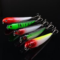 Wholesale Hard Fishes - 5-color 11cm 13.7g Pencil fish Hard plastic lures fishing hooks 3D Eyes Fishing baits 6# Hook Artificial Pesca Tackle Accessories