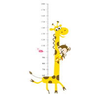 Wholesale Growth Chart Monkey - Height Chart Wall Decals Naughty Monkey Cartoon Decor Stickers for Kids Bedroom for Nursery Playroom Monkeys birds flower chart Wall Decals