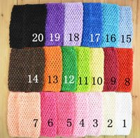 Wholesale Crocheted Tube Tops - 6 inch Baby Girl Elastic Chest Wrap Infant Waffle Crochet Headband Baby Rayon Tutu Tube Tops Girl Hairband 15x15cm XT