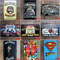120styles Campeão Shell Motor Oil Garage Route66 Retro Vintage TIN SIGN Old Wall Pintura em metal ART Bar Man Cave Pub Restaurante Home Decor
