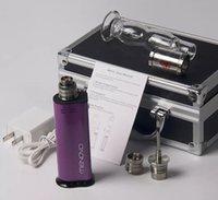 Wholesale New Electronic Smoking Device - Brand New Portable E Nail Wax Vaporizer Smoking Device Electronic Nail Dab Wax Vape Kit Mods With Glass Pipe