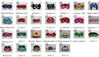 Wholesale Woman Batman Costume - Superhero mask Cosplay Superman Batman Spiderman Hulk Thor Princess Halloween Christmas children men women Party Costumes Eye Masks gifts