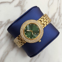 Wholesale Blue Water Watches - 2017 Hot sale High Quality Luxury gold women watch with full diamond Fashion lady dress watch Women watch famous brand free shipping