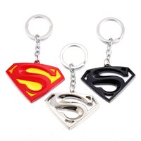 Wholesale Men S Metal Jewelry - Superman Metal S Key Ring For Men Luxury Movie Keychains Jewelry 2017 New Arrival Top Quality Wholesale Free Shipping