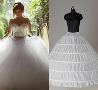 gelin kıyafeti altından toptan satış-Top Quality Ball Gown 6 Hoops Petticoat Düğün Kayma Krinolini İncele Gelin Underskirt Katmanları Kaymaz Etek Crinoline Quinceanera Elbisesi İçin