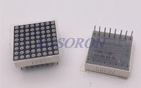 Wholesale 8x8 Led Dot Matrix Display - Wholesale- Free shipping 10pcs 8x8 8*8 Mini Dot Matrix LED Display Red Common Anode Digital Tube 16-pin 20mmx20mm 1.9mm