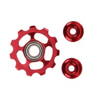 Wholesale Roller Bearing Wheels - 2pc Ultralight Aluminum Alloy Outdoor MTB Bike Bearing Wheel Rear Derailleur Road Bike Guide Roller Idler Pulley Part Cycling Bike Accessori
