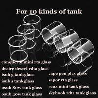 mini g tank großhandel-Conqueror mini desire desert isub g isub-s osub 80 watt 40 watt vape pen plus sapor reux mini skyhook rdta tank pyrex ersatzglasrohr