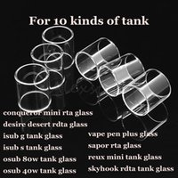 Wholesale desert glasses - Conqueror mini desire desert isub g isub-s osub 80w 40w vape pen plus sapor reux mini skyhook rdta tank pyrex replacement glass tube