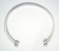 Wholesale Craft Murano - 10pcs lot Silver Plated Bangle Bracelets Fit DIY Craft Murano Jewelry 7.6inch C15 Free Shipping