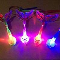 Wholesale Glowing Led Arrow - LED Flashing Flying Arrows Light Up Bird Glow Flying Arrow Rocket Kids Outdoor Toys Birthday Halloween Glow Party Supplies