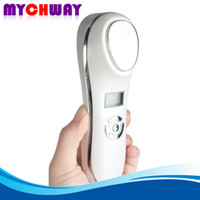 Wholesale Display Vibration - Hot Selling Skin Rejuvenation Smooth Wrinkle Reduction Cold Hot Vibration Sonic Beauty Machine With LCD Display