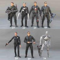 Wholesale Arnold Toy - Terminator T800 Arnold Schwarzenegger skeleton 7 inch movable doll model