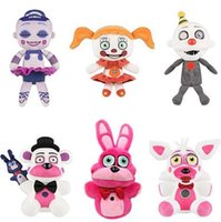 Wholesale Toy Baby Games - New Five Nights At Freddy's Plush Toy Doll FNAF Sister Location Funtime Foxy Freddy Ennard Circus Baby Ballora keyring pendant Kids toy 20cm