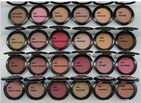 Wholesale English Blush - Best Face Makeup Lowest NEW product Shimmer Blush 24 color No mirrors no brus 6g English Name 12 PCS FREE SHIPPING