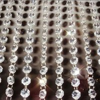 Wholesale Crystal Strands Decorations - Free shipping! DIY ,AAA Top quality, Nice 14MM Octagon Glass Garland Strands, Crystal beads Curtain,Wedding Decoration(10M lot)