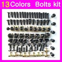 kits de corps pour zx7r achat en gros de-Kit vis complet pour vis de carénage Pour KAWASAKI NINJA ZX7R 96 97 98 ZX-7R ZX750 ZX 7R 1996 1997 1998 1999 Corps Ecrous Vis Kit écrou 13Colors