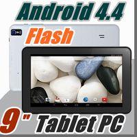 "Wholesale Bluetooth Flashlight - 9"" 9 inch build in flashlight Google Android 4.4 Allwinner A33 Tablet PC bluetooth support Quad Core WiFi DUAL CAMERA B-9PB"