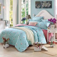 Wholesale Twin Size Green Comforters - Wholesale- Bedding Set Printed Bedlinen Duvet Cover Pillowcase Cotton Without Comforter Bedclothes Set 3 4Pcs Bed Set King Queen Full Size
