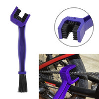 Wholesale Cleaning Bike Brakes - 2016 New high quality Blue Motorcycle Bike Chain Cleaner Cleaning Maintenance Brush Cycle Brake Remover free shipping