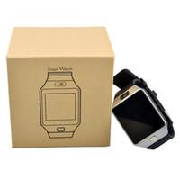 ingrosso orologio del telefono-DZ09 Smart Watch supporto SIM TF orologio da polso con fotocamera anti-perso per IOS Phone Android Phone Wearable Smart orologi GT08 A1