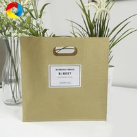 Wholesale Pastry Bags Packaging - Kraft paper Bread Bags Custom Food Bags Foldable Packaging Paper Pastry West Point Cake Paper Bag free shipping