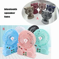 Wholesale Rotary Speaker - Bluetooth Speaker Fan With Hi-Fi Speaker Multifuction Mini Portable USB Fans Music Audio Bluetooth Connection Support TF Card FM U Disk