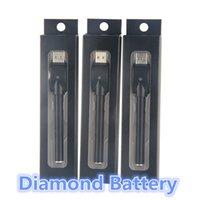 Wholesale Diamond Ecig - 510 vape battery ecig diamond vape pen e cigarette pens 280mah bud buttonless battery for A3 ce3 cartridges