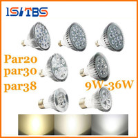 Wholesale Par38 Led 36w - E27 Dimmable PAR20 PAR30 PAR38 LED Light Bulb 9 10 14 18 24 30 36W Led spotlight Warm Pure Cool White 110-240V