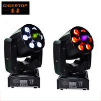 Wholesale Spot Moving Head Light Wash - Freeshipping 2XLOT 1x30W Spot+6x8W RGBW Wash LED Moving Head Zoom Light Effect Disco Party Black Color Shell DMX Stage Lighting