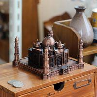 Wholesale Bronze Statues Wholesale - Taj Mahal Art Decoration World Antique Art Landmark Vintage Model Bronze Tone Figurine Statue Home Decor Room Decor