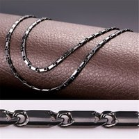 "Wholesale Wholesale 3mm Rhinestones - U7 3MM 22"" 18K Gold Platinum Black Gun Plated Link Chains Classical Necklace For Men Women Fashion Jewelry Perfect DIY Accessories Gift N217"