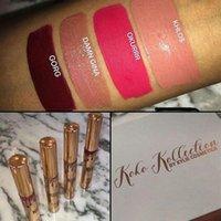 Wholesale Gif Sets - Kylie Jenner KOKO Kollection lipstick Set Koko + Kylie Cosmetics kollaboration Gold Metal Matte lipstick KHLOE Limited Edition Christmas gif