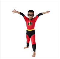 Wholesale Toddler Boys Party Clothes - Boy The Incredibles Costume Halloween Costume For Kids Role Play Party Cosplay Anime Disfraces Carnaval Toddler Clothing Set