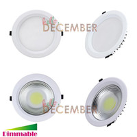 25w Cob Pas Cher-10W 15W 20W 25W 30W Dimmable LED COB Plafonnier Downlight Encastré Ultra Lumineux Plafonniers LED AC 85-265V