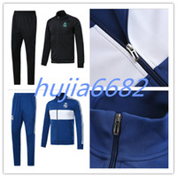 Wholesale Microfiber Jackets - AAA+top quality RONALDO tracksuit 2017 2018 Real Madrid jackets SERGIO RAMOS KROOS BENZEMA JAMES BALE ISCO 17 18 adult tracksuit jacketS