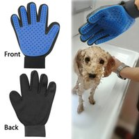 Wholesale Clean Ones Gloves - Comfortable Cleaning Brush Magic Glove Pet Dog Cat Massage Hair Fur Removal Grooming Groomer One Hand Comfort Animal