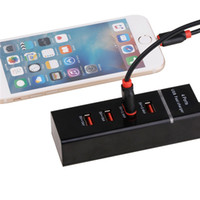 Wholesale Chinese Cell Phones Sale - 2017 For iPhone US EU Plug 4Ports 5v USB chargers adapter With Lights Color Packaging with Box + Plastic hot sales for cell phones