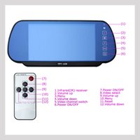 Wholesale Car Tft Bluetooth - 7 inch car monitor MP5 Bluetooth TFT LCD 2 way video in fit for camera DVD Head pillow PAL NTSC rearview DHL