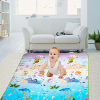 Wholesale- Crawling Pad New Waterproof Baby Kids Toddler PE Cotton Crawl Play Match Tapis de pique-nique (Marine Park) Multi-color Baby Play Mat