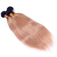 destruição do cabelo humano venda por atacado-Indiano Unprocess Ombre Cabelo Extensões 1B / 27 Ombre Feixes de Cabelo Humano 3 Pcs Indiano Virgem Cabelo Liso Feixes de Tecer