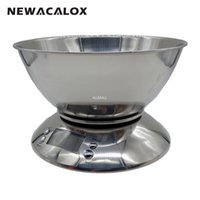Wholesale Food Cuisine - Freeshipping Cooking Tool Stainless Steel Electronic Weight Scale Food Balance Cuisine Precision Kitchen Scales with Bowl 5kg 1g