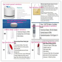 Wholesale Fire Control Windows - CUSTOMER-ORDER KERUI English Russian French Spanish App Controlled Wireless GSM Autodial Home Alarm System GSM Alarm Sensor  wifi-gsm system
