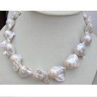 Wholesale Pearl 24mm - HUGE AAA 16-24MM NATURAL SOUTH SEA WHITE BAROQUE PEARL NECKLACE 18 INCH