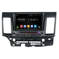 gps para mitsubishi lancer venda por atacado-Tela de 8 polegadas HD Android 5.1 Car DVD player para Mitsubishi Lancer com GPS, controle de volante, Bluetooth, rádio