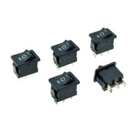 Wholesale Switch Off 125vac - Black Snap-in 6A 250VAC 10A 125VAC 3 Pins ON-OFF-ON 3-Positions SPDT 19x13mm Panel Mount Car Rocker Boat Switch