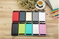 teléfono móvil al por mayor-para Apple iPhone 7 plus 6 6S Plus Estuche para teléfono celular con soporte para tarjeta deslizable Cubierta trasera para móvil Protector de carcasa a prueba de golpes