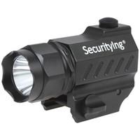 мини-фонарик кнопки оптовых-SecurityIng 400 люмен Mini XP-G R5 LED высокая мощность пистолет установлен тактический фонарик с кнопочным переключателем для наружного / столовая LEF_SG8